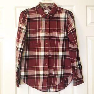 VANS flannel button down plaid shirt. XS/S. EUC
